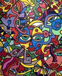 Tiere, Malerei, Mann, Gesicht