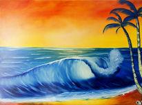 Wasser, Ölmalerei, Romantisch, Sand