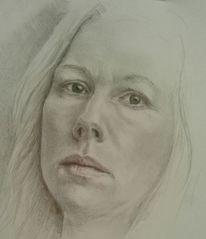 Spiegel, Bleistiftzeichnung, Selbstportrait, Zeichnungen