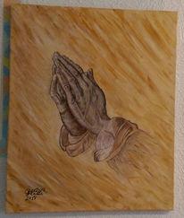 Malerei, Acrylmalerei, Dürer, Betende hände