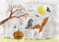 Herbst, Fledermaus, Katze, Möhrchenthecat