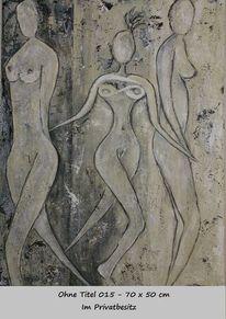 Bewegung, Richtung, Frau, Malerei
