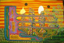 Acrylmalerei, Preis vh, Leinwand auf keilrahmen, Abstrakt