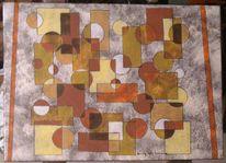 Kreis, Abstrakt, Acrylmalerei, Preis vh