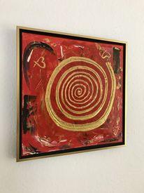 Fantasie, Malerei, Rot, Abstrakt