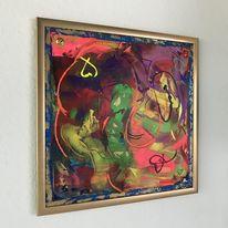 Fantasie, Malerei, Bunt, Acrylmalerei