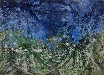 Meer, Zweiteilig, Berge, Expressionismus