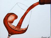 Fest, Wein, Stillleben, Acrylmalerei