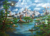 Natur, Wasser, Surreal, Landschaft