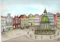 Hansestadt, Markt, Ostsee, Historische altstadt