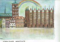 Markt, Rathaus, Kirche, Ostsee