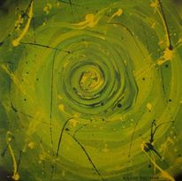 Mischtechnik, Fantasie, Abstrakt, Malerei