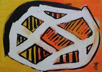 Gemälde, Gelb, Bonsai, Malen