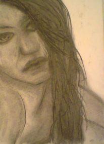 Frau, Portrait, Zeichnung, Malerei