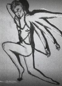 Mann, Abstrakt, Zeichnung, Malerei