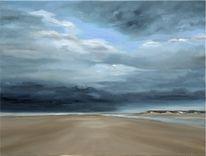 Friesland, Strand, Küste, Wolken
