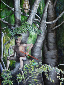 Wald, Junge, Faun, Baum