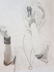 Rap monster, Portrait, Mann, Kpop