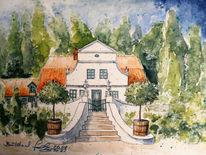 Niedersachsen, Garten, Aquarellmalerei, Künstlerkolonie