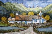 Storr, Aquarellmalerei, Highlands, Alt