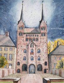Weserbergland, Kirche, Deutschland, Westfale
