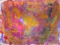 Gelborange, Rosa, Abstrakte malerei, Informel