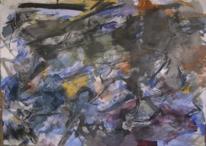 Informel, Abstrakte malerei, Ungestüm, Aquarellmalerei