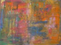 Orange blau, Abstrakter expressionismus, Bunt, Abstrakte malerei