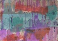 Expressionismus, Gouachemalerei, Fließbild, Abstrakte malerei