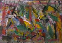 Abstrakt, Abstrakter expressionismus, Malerei, Hommage