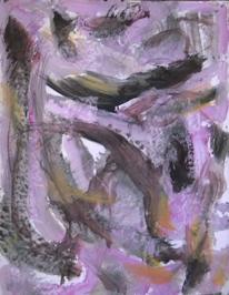 Informel, Abstrakter expressionismus, Rosa, Malerei