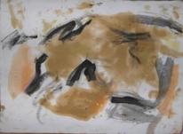 Abstrakter expressionismus, Abstrakte malerei, Terra di siena, Informel