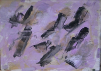 Informel, Abstrakte malerei, Gouachemalerei, Malerei