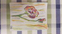 Malerei, Blumen, Abstrakt, Aquarell
