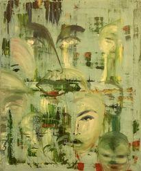 Portrait, Ölmalerei, Abstrakt, Malerei