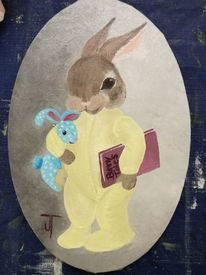 Hase, Ostern, Malerei, Bunny