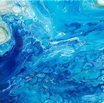 Weiß, Blau, Grün, Malerei