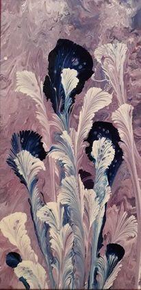 Weiß, Blau, Lila, Malerei