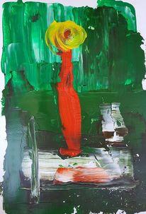 Acrylmalerei, Grün, Frau, Malerei