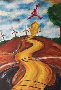 Windkraft, Gitarre, Baum, Basketball