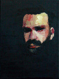 Farben, Malerei, Portrait, Selbstportrait