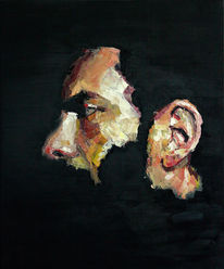 Malerei, Portrait, Farben, Selbstportrait