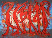 Malerei modern, Abstrakt, Acrylmalerei, Modern art