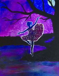 Ballerina, Mond, Allein, Tanz