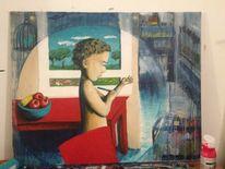 Acrylmalerei, Menschen, Malerei, It