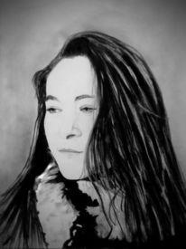 Portrait, Modern, Malerei, Farben