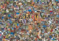 Farben, Collage, Tanz, Bunt