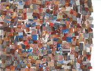 Bunt, Farben, Collage, Mischtechnik