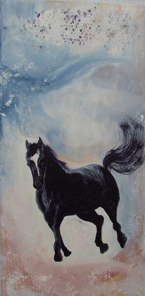 Acrylmalerei, Modern art, Pferde, Malerei