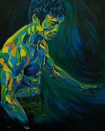 Figur, Malerei, Blau, Menschen